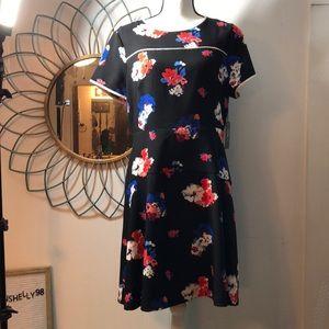 Vince Camuto Floral Flare Dress